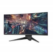 RRP £1089.00 Alienware AW3418DW 34 Inch WQHD (3440 x 1440) 21:9 Gaming Monitor, 1900R Curved Screen