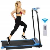 RRP £276.00 Hooseng Treadmill, Electric Folding Treadmill with LED Display and Remote Bluetooth Co
