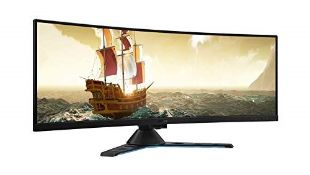 "RRP £833.00 Lenovo Legion Y44w-10 43.4"" HDR Curved Gaming Monitor (Some dead pixels on the right s"