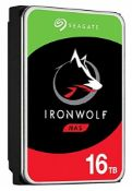 RRP £480.00 Disque Dur Seagate IronWolf 16To (16000Go) S-ATA (ST16000VN001)