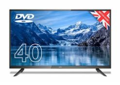 RRP £280.00 (Broken Screen) Cello ZF0204 40 inch Full HD LED TV with Built-in DVD player and Fr