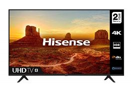 RRP £315.00 (Broken Screen) HISENSE 43A7100FTUK 43-inch 4K UHD HDR Smart TV with Freeview play, an