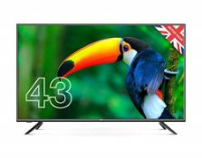 RRP £275.00 (Broken Screen) Cello C4320DVB/ZBVD023 43 inch Full HD LED TV with built-in Freevie