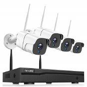 RRP £127.00 TOGUARD Kit Videosorveglianza WiFi, 8CH 1080P NVR 4Pcs 1080P, Caméras de Surveillan
