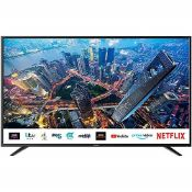 RRP £297.00 (Broken Screen) Sharp 4T-C50BJ2KE2FB (50BJ2KE) 50 Inch 4K UHD HDR Smart TV with Freevi