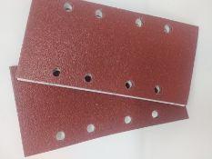 Bosch 2608605303 Sander Sheet for Wood, Velcro Type, 8 Hole, 93mm x 185mm, P60 Grit, Blue, Pack of 1