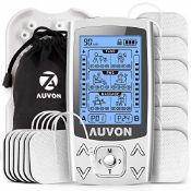 AUVON Dual Channel TENS EMS Machine for Pain Relie