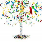 Relaxdays Party Popper 80 cm, 6-8 m Shooting Distance, Confetti Cannon, Confetti Shooter, Wedding De