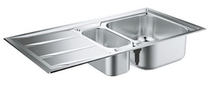 RRP £172.00 GROHE 31569SD0 | K400+ Sink 1.5 bowl | Stain