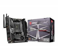 RRP £160.00 MSI MPG B550I GAMING EDGE Wi-Fi Motherboard Mini-ITX, AM4, DDR4, Dual M.2, LAN, 802.11