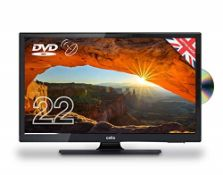 """RRP £184.00 Cello 22"""" C22230FT2S2 12 Volt LED TV/DVD Freeview HD and Satellite Tuner Made In The U"""