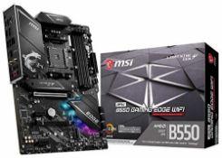 RRP £159.00 MSI MPG B550 GAMING EDGE Wi-Fi Motherboard ATX, AM4, DDR4, Dual M.2, LAN, 802.11ax Wi-
