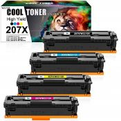 RRP £137.00 Cool Toner Compatible 207X Toner Cartridge Replacement for HP 207X 207A W2210X W2210A