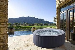 RRP £413.00 MSpa Silver Cloud 2021 Edition Luxury Portable Inflatable Quick Heating Round Hot Tub