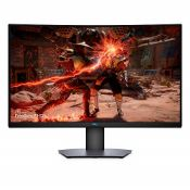 RRP £399.00 [BROKEN SCREEN] Dell S3220DGF 31.5 inch QHD (2560x1440) Gaming Monitor, 1800R Curved S