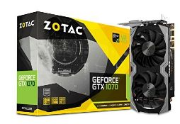RRP £504.00 Zotac ZT-P10700G-10M NVIDIA GeForce GTX 1070 8 GB Mini Graphics Card - Black