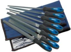 Draper 44961 Engineers File and Rasp Set with Soft Grip, 200mm, 8 Pieces