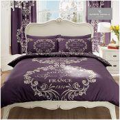 Gaveno Cavailia Luxurious SCRIPT PARIS Bed Set With Duvet Cover and Pillow Case, Polye
