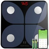 Body Fat Scale, Smart Bathroom Weight Scale Wireless BMI Body Composition Monitor, Hig