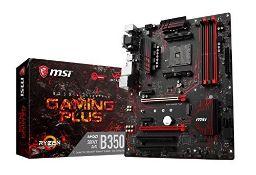 RRP £65.00 MSI B350 GAMING PLUS AM4 AMD RYZEN/7th Gen A-Series DDR4 GB Lan ATX Motherboard - Blac