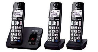 RRP £69.00 Panasonic KX-TGE723 Big Button DECT Cordless Telephone with Nuisance Call Blocker & Di
