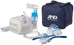 A&D Medical UN-014 Compact Compressor Nebuliser, White/Blue