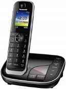 RRP £60.00 Panasonic KX-TGJ320EB Single Handset Cordless Home Phone with Nuisance Call Blocker an
