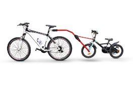 RRP £73.00 Cicli Bonin Unisex's Angel Trail Bike Pulling Bar, Red, One Size