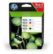 RRP £85.00 HP 3HZ51AE 903XL High Yield Original Ink Cartridges, Black/Cyan/Magenta/Yellow, Multip