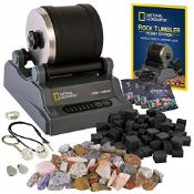 RRP £54.00 National Geographic Hobby Rock Tumbler Kit - Rock Polisher for Kids & Adults, Durable