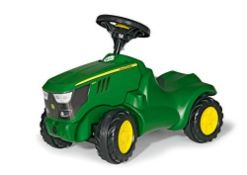 RRP £59.00 rolly toys   rollyMinitrac John Deere 6150R with Squeaky horn   132072