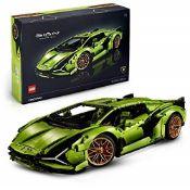 RRP £234.00 LEGO 42115 Technic Lamborghini Sián FKP 37 Race Car, Advanced Building Set for Adults