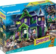 RRP £74.00 Playmobil 70361 SCOOBY-DOO!© Mystery Mansion, With Light and Sound Effects, for Chi