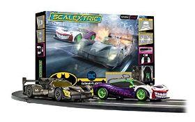 RRP £109.00 [INCOMPLETE] Scalextric Spark Plug - Batman vs Joker Slot Car Racing Set