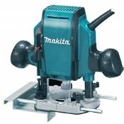 RRP £129.00 Makita RP0900X/2 1/4-inch/ 3/8-inch 240V Plunge Router, Blue