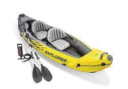 RRP £240.00 Intex Explorer K2 Two-Person Kayak with Oars + Pump
