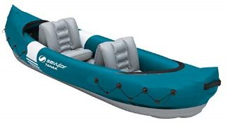 RRP £82.00 Sevylor Tahaa Kayak, Inflatable Canoe for 2 Persons, Inflatable Boat, Paddle Boat with