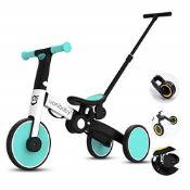 RRP £64.00 OLYSPM 5 in 1 lightweight Baby Balance Bikes Pedal Tricycle children Walker With Paren