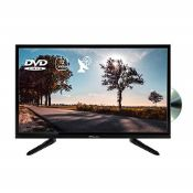 """RRP £155.00 EMtronics 24"""" Inch 720p 12 Volt TV with DVD, HDMI, USB PVR and Satellite Tuner with 12"""