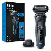 RRP £57.00 Braun Series 5 Electric Shaver for Men with Precision Beard Trimmer, Wet and Dry, Rech