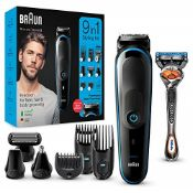Braun 9-in-1 All-in-one Trimmer 5 MGK5280, Beard Trimmer for Men, Hair Clipper and Bod