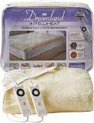 RRP £69.00 Dreamland Intelliheat fast heat up premium soft fleece electric underblanket king, ele