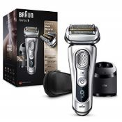 RRP £209.00 Braun Series 9 9390cc Latest Generation Electric Shaver Clean and Charge Station Leath