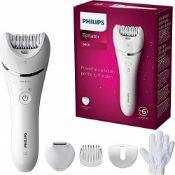 RRP £120.00 Philips Epilator Series 8000, Wet & Dry hair removal for legs and body, Powerful epila