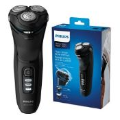 RRP £59.00 Philips Shaver Series 3000 with Powercut Blades, Wet & Dry Men's Electric Shaver with