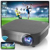 RRP £227.00 WISELAZER Full HD 4K Projector Native 1080P,