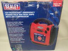 RRP £104.00 Sealey RS132 Roadstart Emergency Power Pack