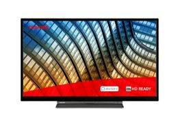 RRP £177.00 Toshiba 32WK3C63DB 32-inch, HD Ready, Freeview Play, Smart TV, Alexa Built-in (2021 Mo