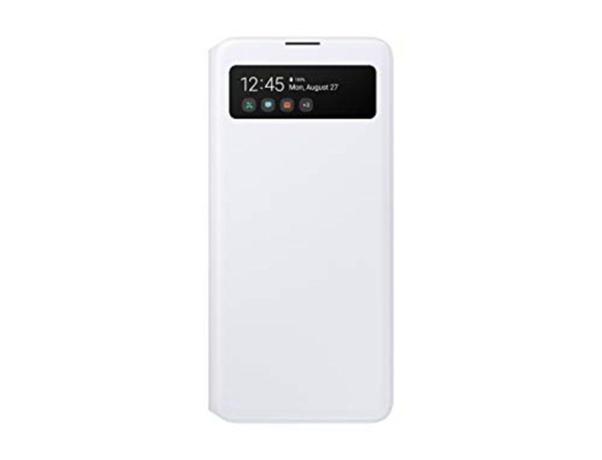Samsung Official Galaxy A51 S-View Flip Cover Case - White, EF-EA515PWEGEU