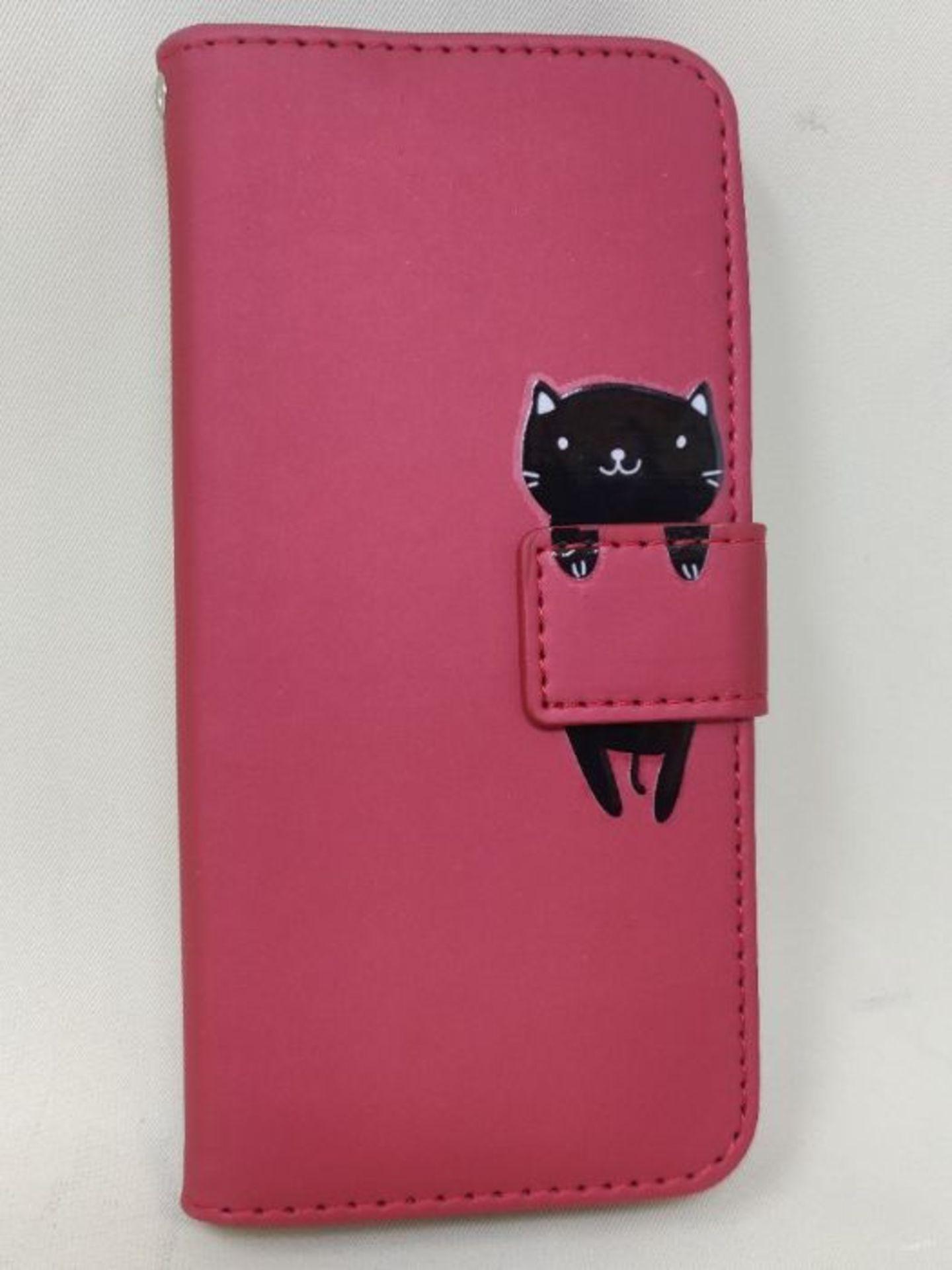 Ailisi Galaxy A20e Case, Cute Cartoon Animal Leather Wallet flip case Creative magneti - Image 2 of 2